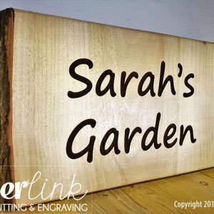 Solid wood engraved sign boards 004