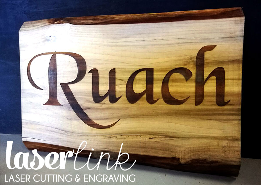 Solid wood engraved sign boards 006