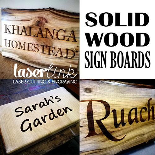 solid wood engraved sign boards