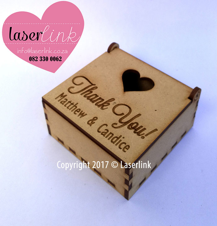 Wedding Favour Gift Boxes Laserlink