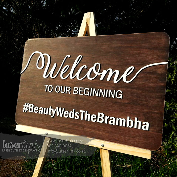 Wooden Wedding Sign Board 002