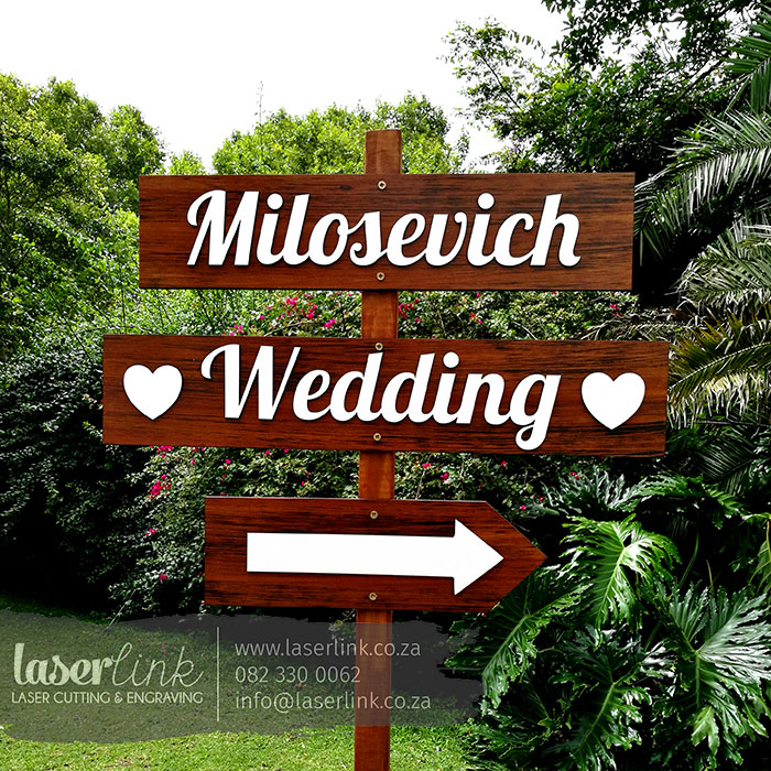 Wooden Wedding Sign Board 004