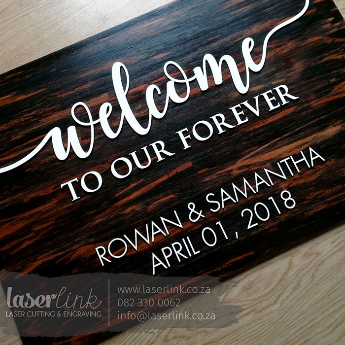 Wooden Wedding Sign Board 005
