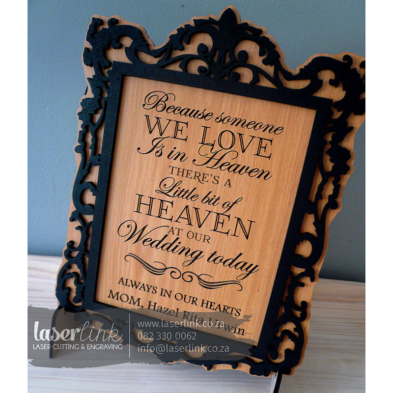 Wooden Wedding Sign Board 007