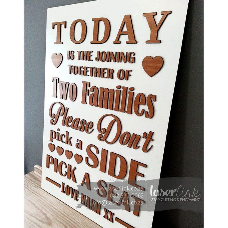 Wooden Wedding Sign Board 008